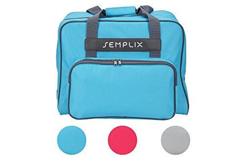 SEMPLIX Nähmaschinentasche Türkis, 45x34x24 | Stabile Transport und Aufbewahrungs Tasche in Vielen Frischen Farben, für Alle gängigen Haushaltsnähmaschinen