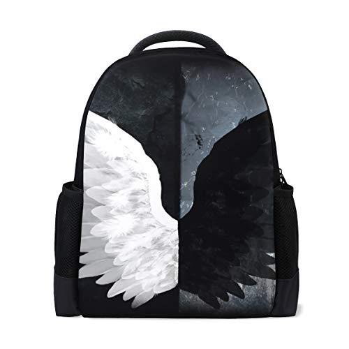 Süße Rucksack Tasche Fly Weiß Schwarz Angel Wings Rucksack für Jungen und Mädchen Outdoor Casual Daypack (Angel Wing Rucksack)