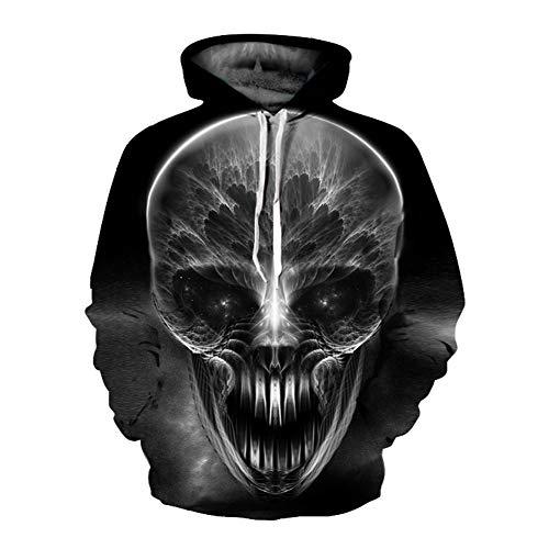 Unisex Winter 3D-Mode-Persönlichkeit Pullover Hoodie, lässiges leichtes Sweatshirt und Tasche S-XXL,888,M