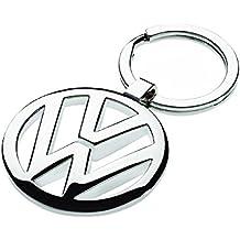 Llavero con logotipo Volkswagen VW 3D, metal cromado