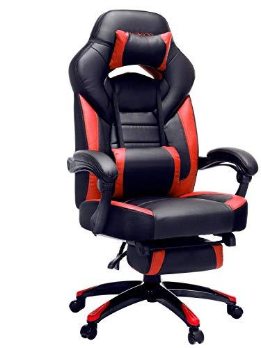 SONGMICS Gamingstuhl, Bürostuhl mit Fußstütze, Schreibtischstuhl, ergonomisches...
