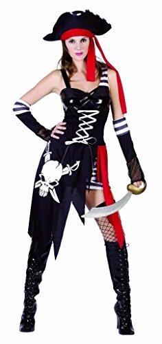 YOU LOOK UGLY TODAY Karneval Halloween Piraten Kostüme Costumes für Damen Erwachsene - S/M - (Piraten Halloween Kostüme Frauen)