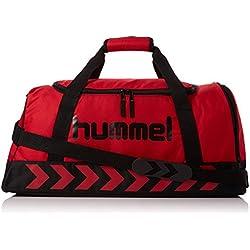 Hummel Hombre Bolsa de deporte Authentic, color Rojo - Rojo y negro, tamaño 40 x 21 x 23 cm, 19 Liter, volumen liters 19.0