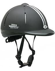 Horka seguridad ajustable montar a caballo casco Airstream Techno deporte 48–61cm, color negro, tamaño S/M 53-57cm