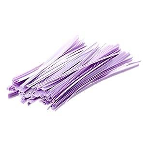 Lot 100 violet kraft attache lien twist tie sachet bonbons biscuits sucettes