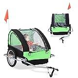 ALTERDJ Fahrradanhänger Hundeanhänger fur kleine bis große Hunde max 40 kg zusammenklappbar (Grün)