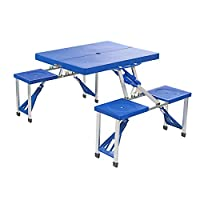 Parkland® Portable Folding Camping Picnic Table Party Outdoor Garden BBQ Chairs Stools Set