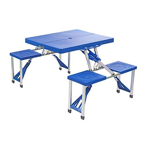 Picknick-Set mit Tisch und Stühlen, leicht, zusammenfaltbar - Picknick-tisch