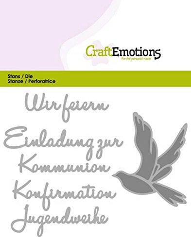 Stanz- und Prägeschablone - CraftEmotions - Wir feiern Kommunion