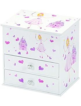 Schmuckschrank Prinzessin Beatrix mit Spieluhr für Kinder Schmuckkästchen