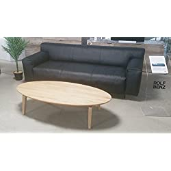 Möbel Akut ROLF BENZ Couchtisch 977 Eiche massiv natur Wohnzimmertisch 140 x 70 cm