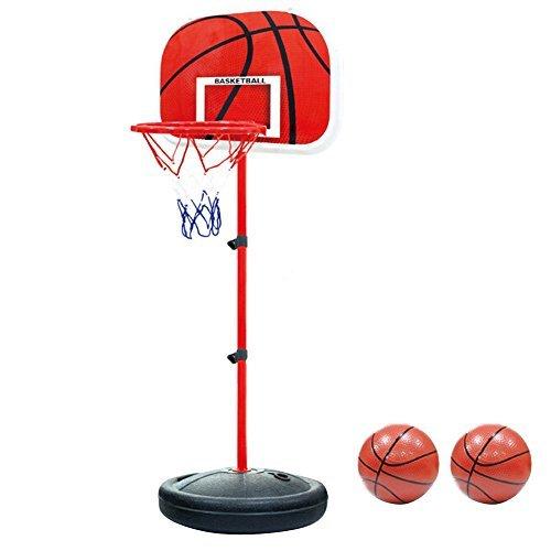 Foto de Pellor Ajustable Canasta Aro de Baloncesto Se puede Subir y Bajar para Niños (170cm)