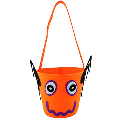 LAAT Halloween Kürbis Tasche Kinder Mini Süßigkeiten Tote Kinder Geschenke Süßigkeiten Taschen Handtaschen für Kinder oder Kostüm Party (Orange 5) (5 Einfache Halloween Kostüme)