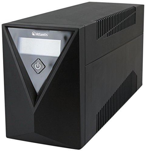 Atlantis a03-s120One Power stepwave Line Interactive USV, 1000VA, 500W, v-Out 190-245VAC AVR, USB 4x IEC, schwarz -