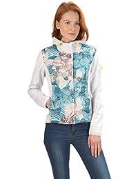 c87b62caec44f7 Stayer Damen Winter Softshell-Jacke Thermo-Jacke mit Kapuze Roll-Kragen Weiß  bunt
