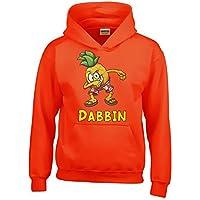Dabbin Ananas ! Kinder Hoodie Sweatshirt mit Kapuze Kids Gr.128-164 cm Dabbing