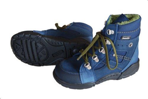 Däumling Bottes pour enfant, Garçon, Chaussures d'hiver, bottes de chaussures en cuir Bleu - Tuirino tiefsee (blau)