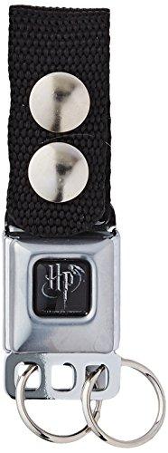 Buckle Down Unisex Keychain-Harry Potter Logo Full Color Black/White Key Chain