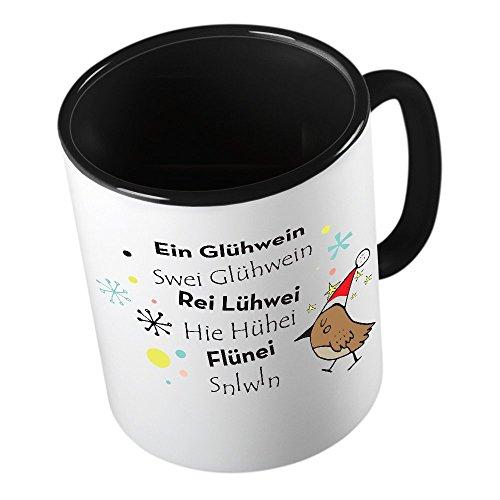 Ein Gluehwein ★ lustige Tasse - Kaffeetasse - Kaffee-Pott ★ hochwertig bedruckt mit lustigem Spruch ★ Die perfekte Geschenk-Idee