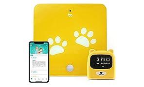 Growp Smart Bluetooth schermo digitale crescita Tracker – Bilancia ad alta precisione e righello con App (iOS e Android) a intelligenza Track Kid, peso e altezza