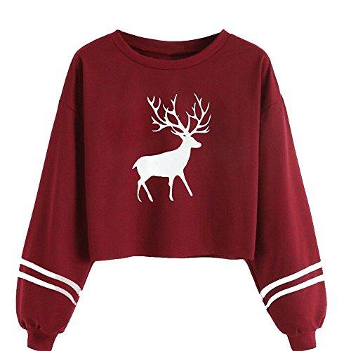 Damen Hoodie Grün rot Schwarz Kapuzenpullover Sport Hoodie Sweatshirts Oversize Oberteil Pullover MYMYG Herbst Frauen Kapuzensweatshirt (B3-rot,EU:36/CN-M)