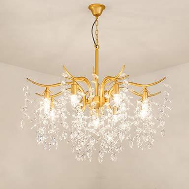 Neuheit Kronleuchter (WJFXG 9-Licht Sputnik Kristall Neuheit Kronleuchter Downlight Painted Finishes Metall Creative, 110-240V für Wohnzimmer Schlafzimmer Esszimmer, 100 X 70cm,Gold)
