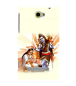 printtech Lord God Om Namah Shivaya Back Case Cover for HTC Windows Phone 8S
