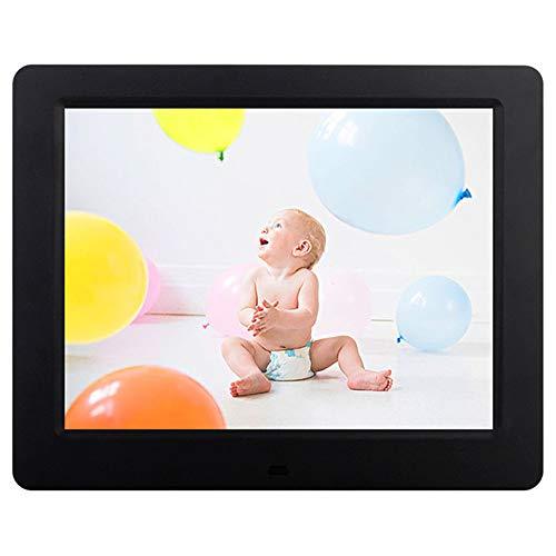 YJF-SMXK 8-Zoll-LED-Digital-Fotorahmen 1024 × 768 Elektronischer Fotorahmen Menschliche Bewegungsinduktionserkennung mit Fernbedienung Support-Uhr und Kalenderfunktion