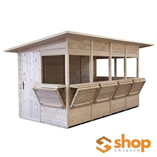 Home Idea Italia Chiosco In Legno Shop 468 X 242 Cm 7 Ante Pavimento E Ardesia Inclusi