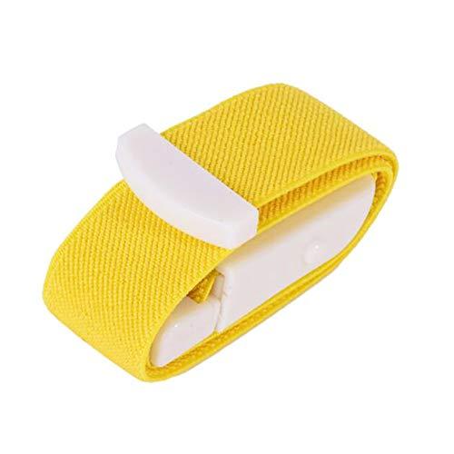 XIHAA Hebilla de torniquete de Emergencia elástica médica de Lanzamiento rápido de Primeros Auxilios, para la Actividad al Aire Libre en el hogar (5 uds),Yellow5pcs