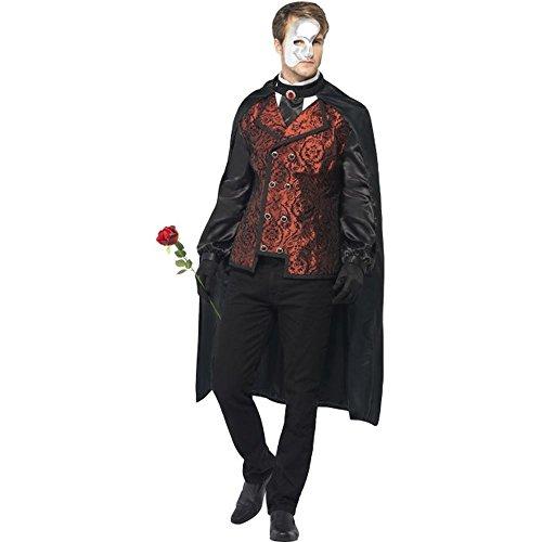 tüm Barock Phantom Vampir Karneval Fasching Halloween Gr.M (Unbekannten Phantom Kostüme)