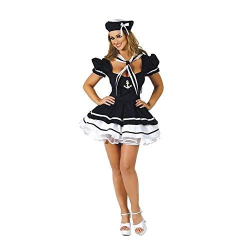 LXESWM Kostüm for Damen Sexy Navy Sailor Girl Uniform Kostüm Sailor Kostüm Sailor Cosplay (Sexy Navy Girl Kostüm)