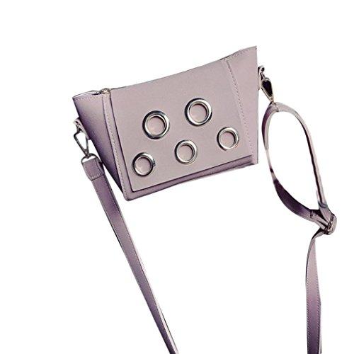 Artificiali In Pelle Piazza Messenger Borse, Womens Bag Scrub Spalla Borsa Donna Borsetta Borsa Messenger Borse Pochette di Kangrunmy Rosa