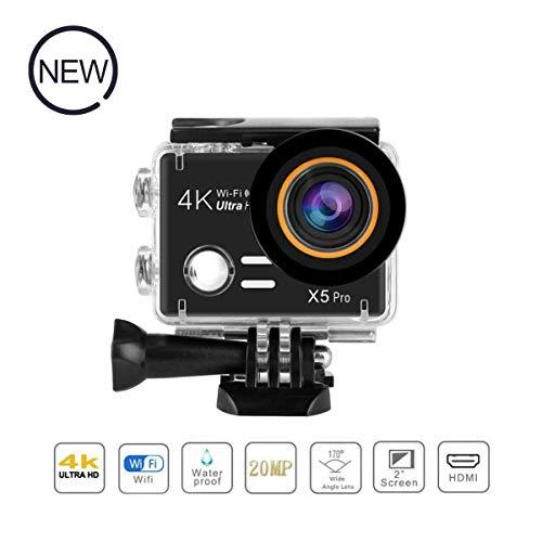 """UKSoku Action Kamera 4K 20MP WiFi Sport Cam Ultra Full HD 1080P Wasserdicht 45M Unterwasserkamera Helm Kamera 2.0"""" Touchscreen 170° Weitwinkel mit Batterien Transporttasche und Kostenlose Accessoires"""