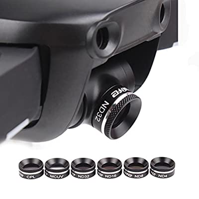Kingwon ND Filter Kit: Polarized / Neutral Density Filter for DJI Mavic Air,Quadcopter Lens Filters Accessories,Including UV,CPL and ND Filter Kit