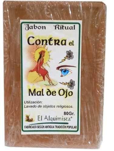 JABON CORTA MAL DE OJO, hecho a mano con hierbas y aceites 100g.