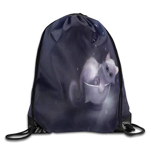 FTKLSS Lightweight Foldable Large Capacity Basketball Men & Women Drawstring Backpack Travel Bag