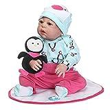 Swiftswan 22 Zoll Kinder Reborn Baby Doll Ganzkörper Silikon Lebensechte Newborn Puppe