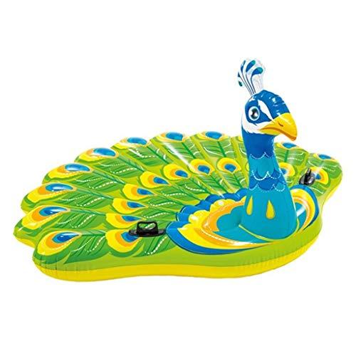 Kickboards Schwimmen & Baden Aufblasbare Schwimmbad Spielzeug Wasser Aufblasbare Schwimmende Bett Pfau Schwimmbad Schwimmbad Mount Schwimmen Luftkissen Freizeitstuhl Tragfähigkeit 150kg