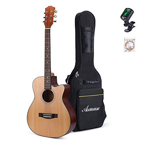 AsmuseTM40 Zoll Akustik-gitarre Anfänger Set mit eine dicke Gittarentasche