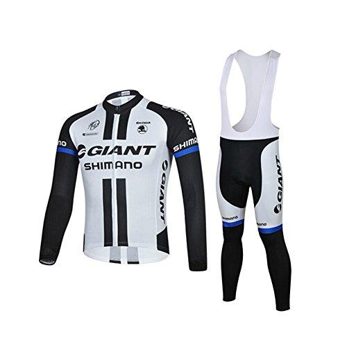 Strgao 2016 Herren Radtrikots mit Tr?gerhose Pro Rennen Team giant Radfahren Langarm Radhose MTB Radbekleidung Radfahren Anzug cycling jersey pants set suit