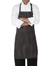 Kodenipr Club Men Women Hotel Cafe Restaurants Catering Cooking Kitchen Chef Apron (Chalk-Stripe)