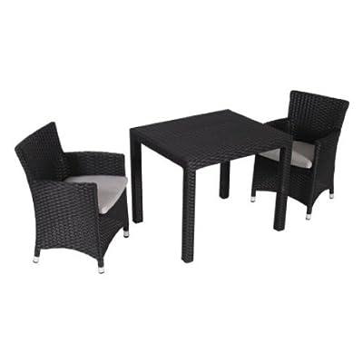 My Garden 1000315 Kinder Gartenmöbelset Kunststoffgeflecht 2 Sessel mit Kissen und 1 Tisch