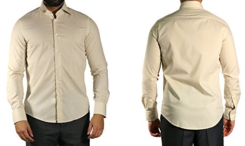 MUGA -  Camicia classiche  - Basic - Classico  - Maniche lunghe  - Uomo Beige