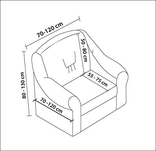 Luxus Sessel- und Sofahussen, Sessel/1-Sitzer, weiss - 2