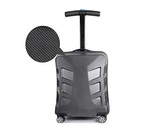 XDD 22-Zoll-Gepäckroller, zusammenklappbarer Rollkoffer und Trolley Multifunktionale Hartschale TSA-Passwortsperre Gepäck Reiseräder Skateboard Geeignet für die Travel Business Academy,C