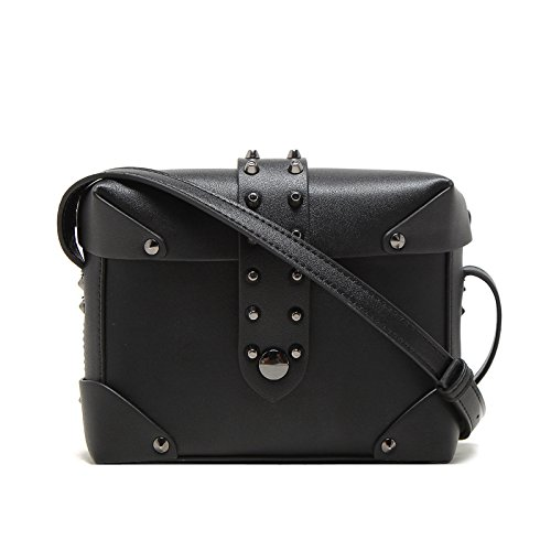 Haihuayan Handtasche Tasche Stud Frauen Tasche Kleine Leder Handtaschen Niet Schultertasche Damen Shopper Crossbody Braun (Cross-body-stud)