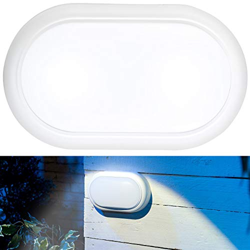 Luminea Garagen-Lampen: Stoßfeste LED-Feuchtraumleuchte, 1.050 lm, 15 Watt, 4000 K, IP54, IK08 (Feuchtraumlampen)