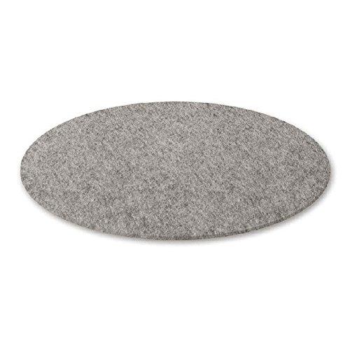Hey-Sign Bigdot Filzteppich Ø 120cm, hellmeliert grau Filz rund