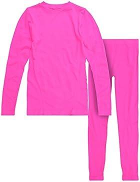 Ultrasport ZigZag Gualala - Ropa interior para niña, color rosa, talla 14-16
